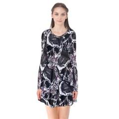 Skulls Pattern Flare Dress by ValentinaDesign