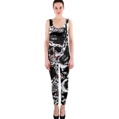 Skull pattern OnePiece Catsuit by ValentinaDesign