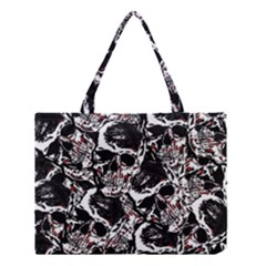 Skull Pattern Medium Tote Bag by ValentinaDesign