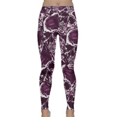 Skull Pattern Classic Yoga Leggings by ValentinaDesign