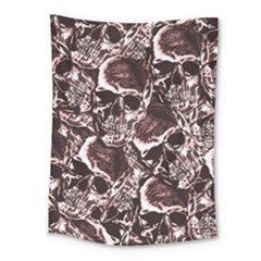 Skull Pattern Medium Tapestry by ValentinaDesign