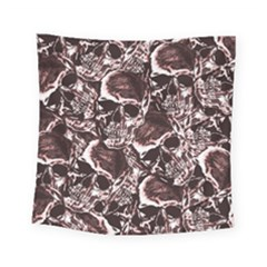 Skull Pattern Square Tapestry (small) by ValentinaDesign