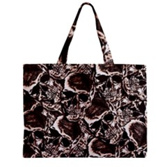 Skull Pattern Zipper Mini Tote Bag by ValentinaDesign