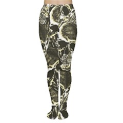 Skull Pattern Women s Tights by ValentinaDesign