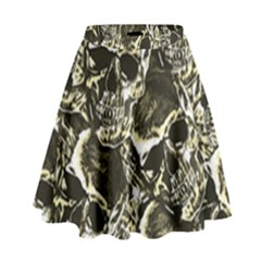 Skull Pattern High Waist Skirt by ValentinaDesign