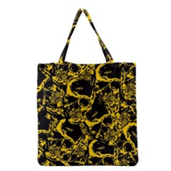 Skull Pattern Grocery Tote Bag by ValentinaDesign