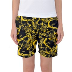 Skull Pattern Women s Basketball Shorts