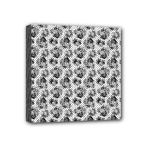 Floral Pattern Mini Canvas 4  X 4  by ValentinaDesign