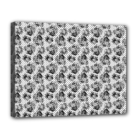 Floral Pattern Canvas 14  X 11  by ValentinaDesign