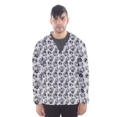 Floral Pattern Hooded Wind Breaker (men) by ValentinaDesign
