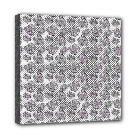 Floral Pattern Mini Canvas 8  X 8  by ValentinaDesign