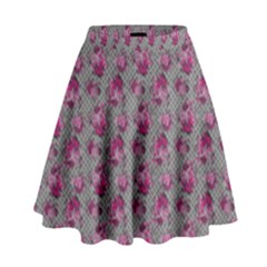 Floral Pattern High Waist Skirt by ValentinaDesign