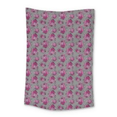Floral Pattern Small Tapestry by ValentinaDesign