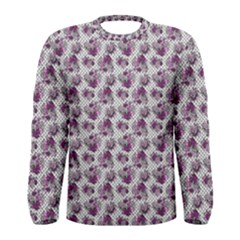 Floral Pattern Men s Long Sleeve Tee by ValentinaDesign