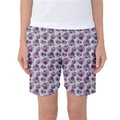 Floral Pattern Women s Basketball Shorts by ValentinaDesign