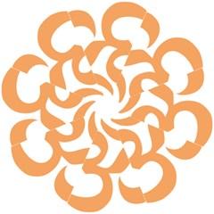 Hindu Om Symbol (sandy Brown) Hook Handle Umbrellas (large) by abbeyz71