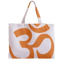 Hindu Om Symbol (sandy Brown) Medium Tote Bag
