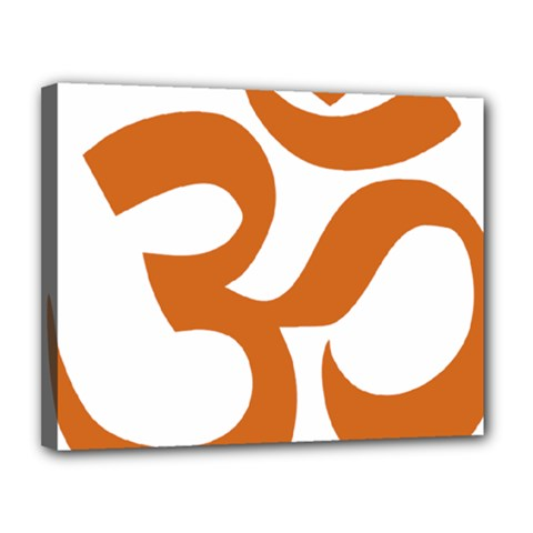 Hindu Om Symbol (chocolate Brown) Canvas 14  X 11  by abbeyz71