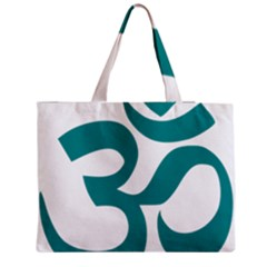 Hindu Om Symbol (dark Cyan) Medium Tote Bag by abbeyz71