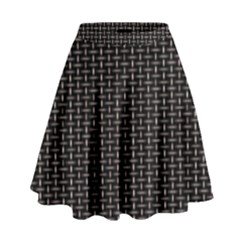 Dark Black Mesh Patterns High Waist Skirt by Vayuart
