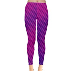 Purple Pink Dots Leggings  by Vayuart