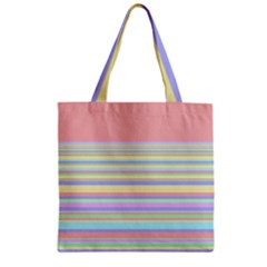 All Ratios Color Rainbow Pink Yellow Blue Green Zipper Grocery Tote Bag by Mariart