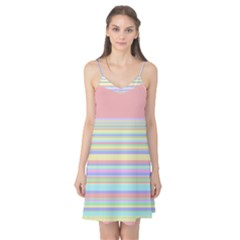 All Ratios Color Rainbow Pink Yellow Blue Green Camis Nightgown by Mariart