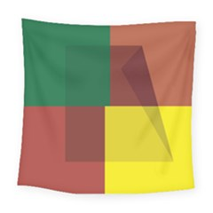 Albers Out Plaid Green Pink Yellow Red Line Square Tapestry (large) by Mariart