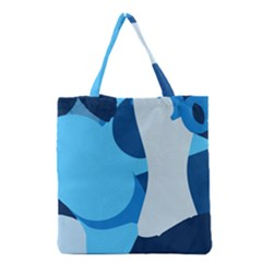 Blue Polka Grocery Tote Bag by Mariart