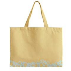 Bubbles Yellow Blue White Polka Zipper Mini Tote Bag by Mariart