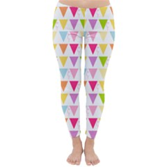 Bunting Triangle Color Rainbow Classic Winter Leggings by Mariart