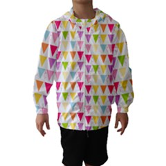 Bunting Triangle Color Rainbow Hooded Wind Breaker (kids)