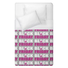 Black Friday Sale White Pink Disc Duvet Cover (single Size) by Mariart