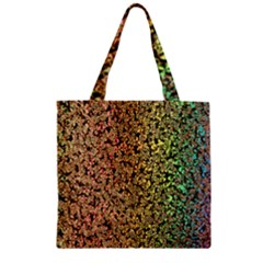 Crystals Rainbow Zipper Grocery Tote Bag by Mariart