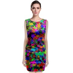 Flowersfloral Star Rainbow Classic Sleeveless Midi Dress