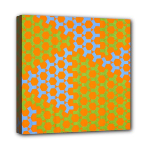 Green Blue Orange Mini Canvas 8  X 8  by Mariart