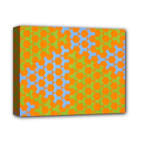 Green Blue Orange Deluxe Canvas 14  X 11  by Mariart