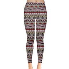 Aztec Pattern Patterns Leggings  by Vayuart