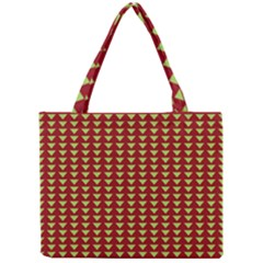 Hawthorn Sharkstooth Triangle Green Red Full Mini Tote Bag by Mariart