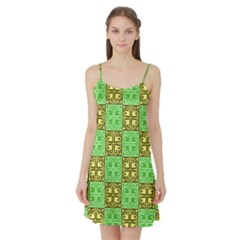 Clipart Aztec Green Yellow Satin Night Slip by Mariart