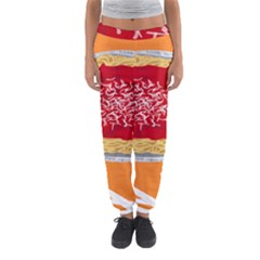 Instant Noodles Mie Sauce Tomato Red Orange Knife Fox Food Pasta Women s Jogger Sweatpants by Mariart