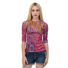 Micro Macro Belle Fisher Nature Stone Quarter Sleeve Tee by Mariart