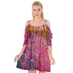 Micro Macro Belle Fisher Nature Stone Cutout Spaghetti Strap Chiffon Dress