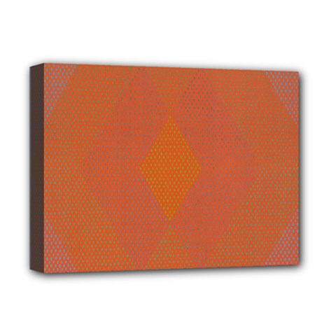 Live Three Term Side Card Orange Pink Polka Dot Chevron Wave Deluxe Canvas 16  X 12   by Mariart