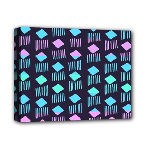 Polkadot Plaid Circle Line Pink Purple Blue Deluxe Canvas 14  X 11  by Mariart