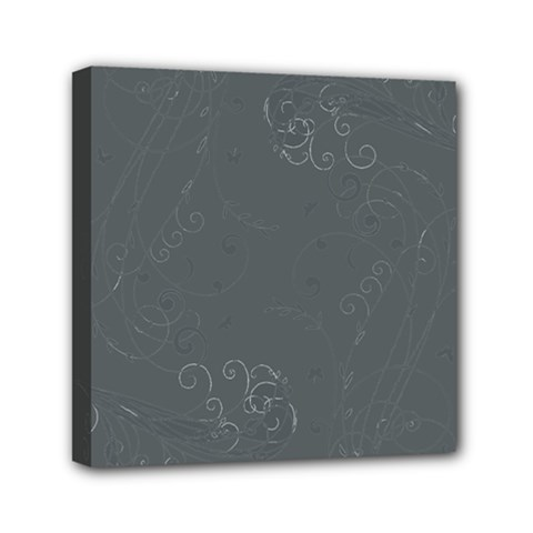 Floral Design Mini Canvas 6  X 6  by ValentinaDesign