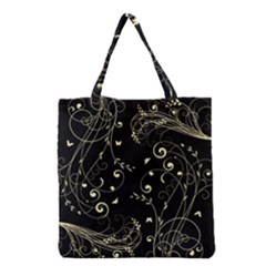 Floral Design Grocery Tote Bag