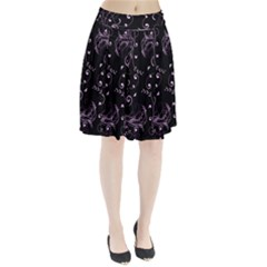 Floral Design Pleated Skirt