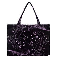 Floral Design Medium Zipper Tote Bag
