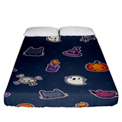 Kawaiieen Pattern Fitted Sheet (king Size)